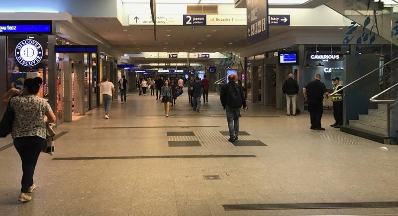Passageway in Krakow Glowny train station
