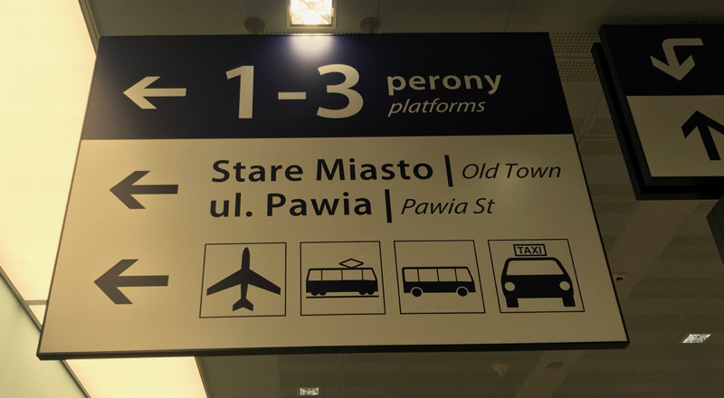 Sign to Old Town and Pawia