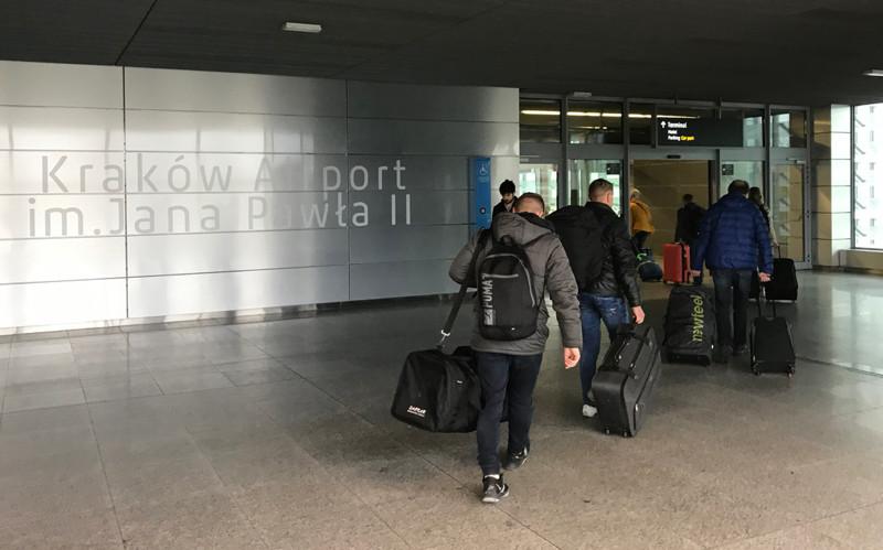Arriving at Krakow Airport