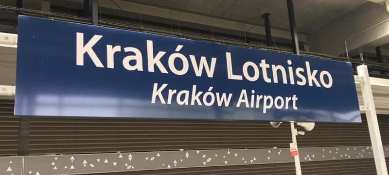 Krakow Lotnisko train station for Krakow Airport