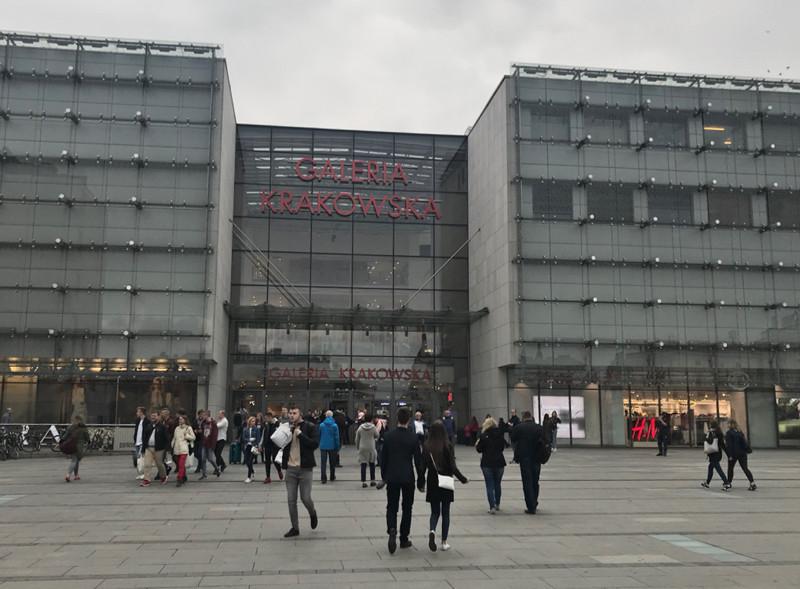 plac. Jana Nowaka Jeziorańskiego entrance to Galeria Krakowska