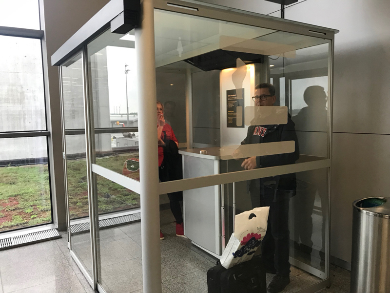 Krakow Airport smoking booth