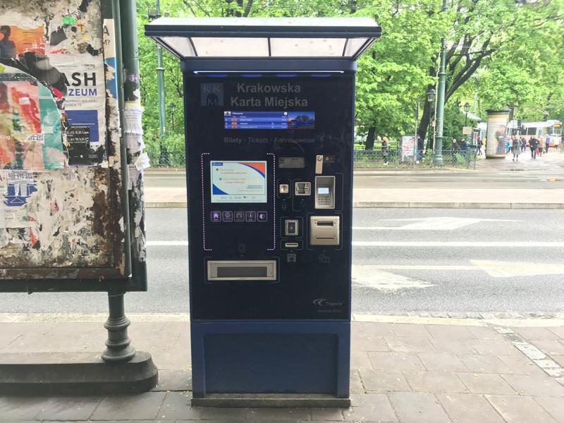 Krakow bus and tram ticket machine