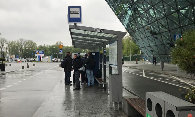 Krakow Airport bus stop