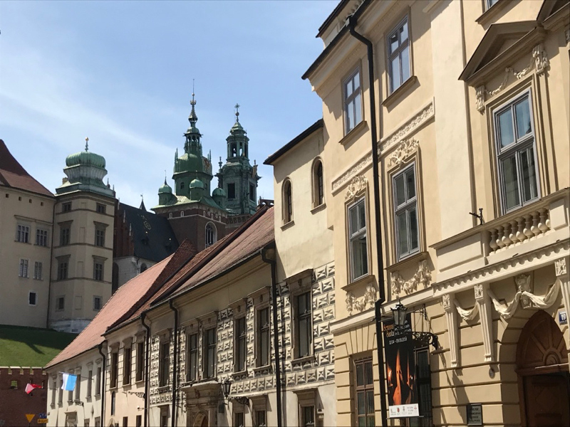 View of Wawel from Kanonicza Street