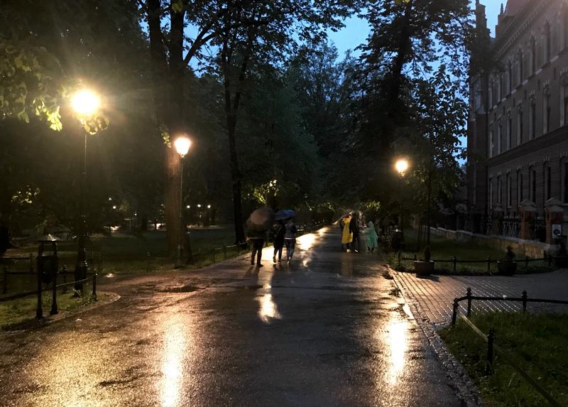 Planty Park after dark