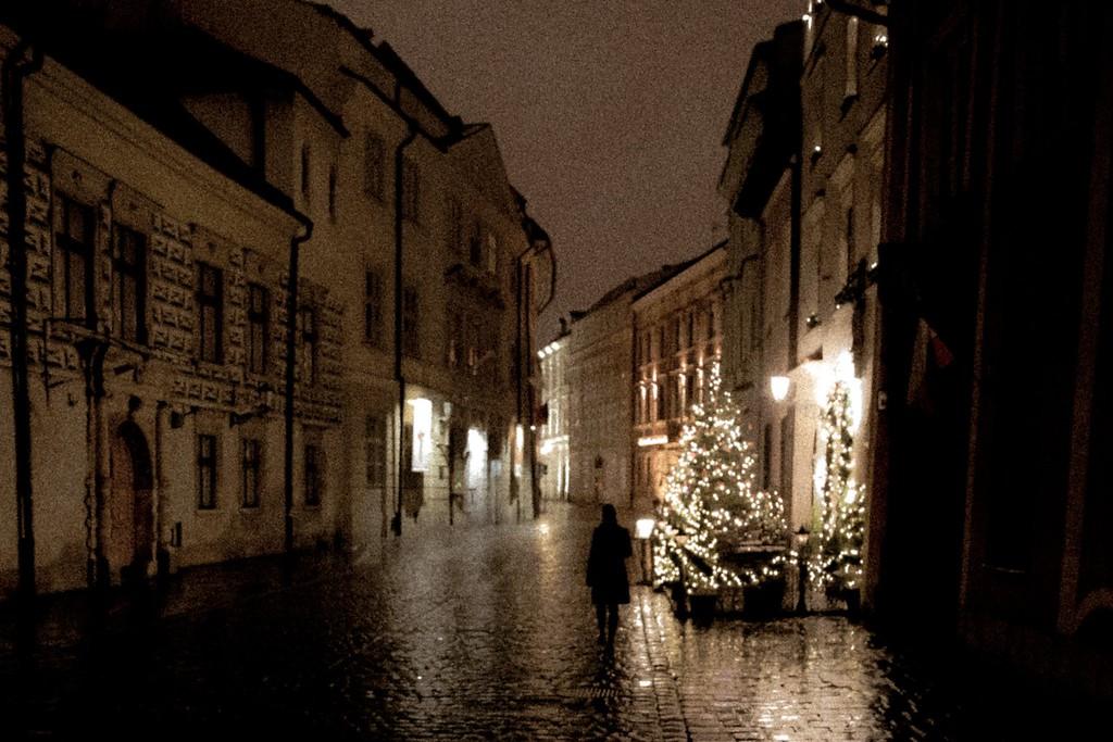 Foggy Christmas Night in Krakow, copyright Brandon Atkinson