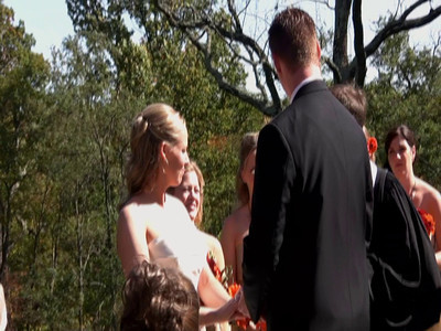The Ceremony  Jon and Daryn exchange vows and seal them with a kiss.  Video by Jason Pierce