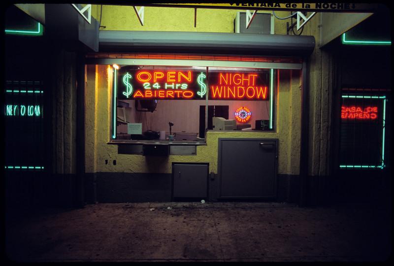 Pico Union Pawn Shop, Inc. at night, Los Angeles, 2004