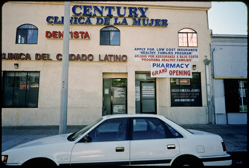 Businesses along East Cesar Chavez Avenue, Los Angeles, 2004