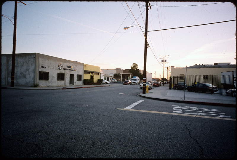Industrial, and residential sites along 38th Street, Ross Street, 37th Street  and South Alameda Street, steel warehouse guys, Pacer Furniture, Los Angeles, 2004