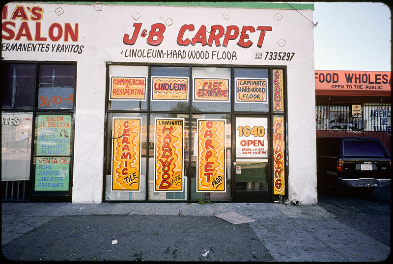 Storefront churches down Jefferson Boulevard to La Cienega Boulevard, Los Angeles, 2004