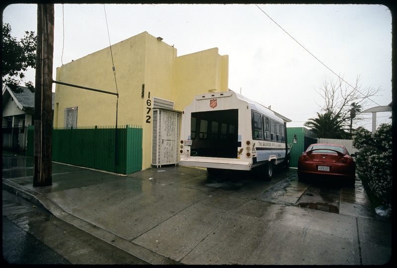 Commercial strip on Western Avenue and 6th Street, (with panorama from one block west of Western Avenue from south side of street, West Jefferson Boulevard, Alhambra Avenue around Warwick Avenue, Los Angeles, 2004