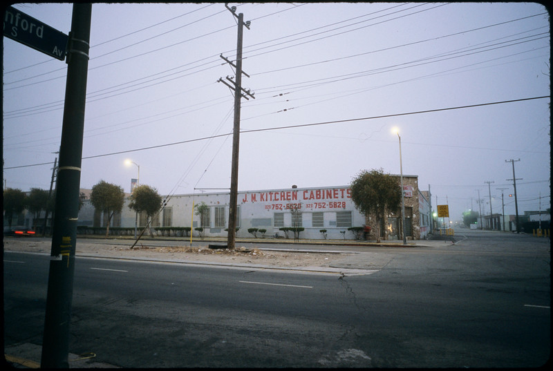 Huntington tract: church buildings, industrial buildings, bicycling to work, etc., Los Angeles, 2005