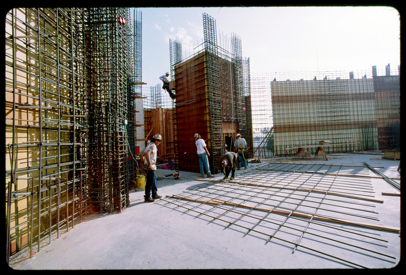Construction of Galen Center, USC, by Clark Construction, Los Angeles, 2005