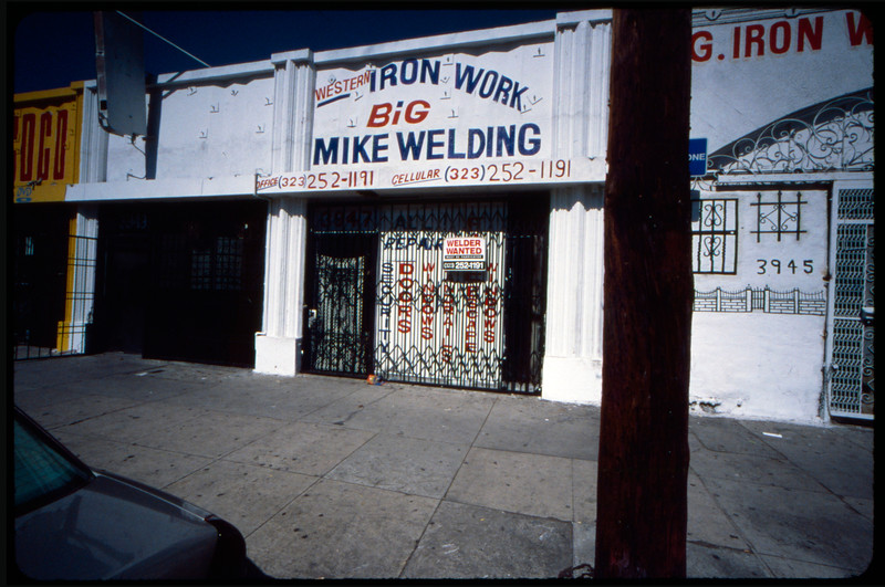 Jeantex, Inc., and Western Iron Work -- Big Mike Welding on 39th Street and Western Avenue, Los Angeles, 2005