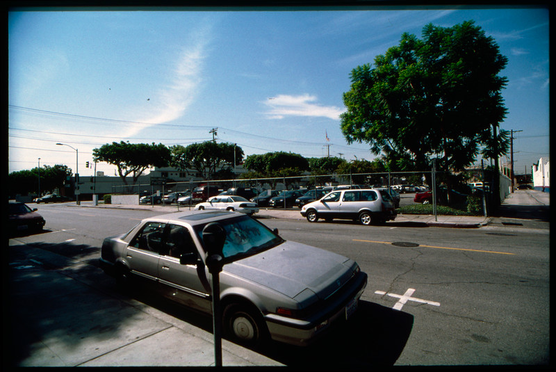 Industrial buildings along East Pico Boulevard from Paloma Street to South Central Avenue and back, Los Angeles, 2003