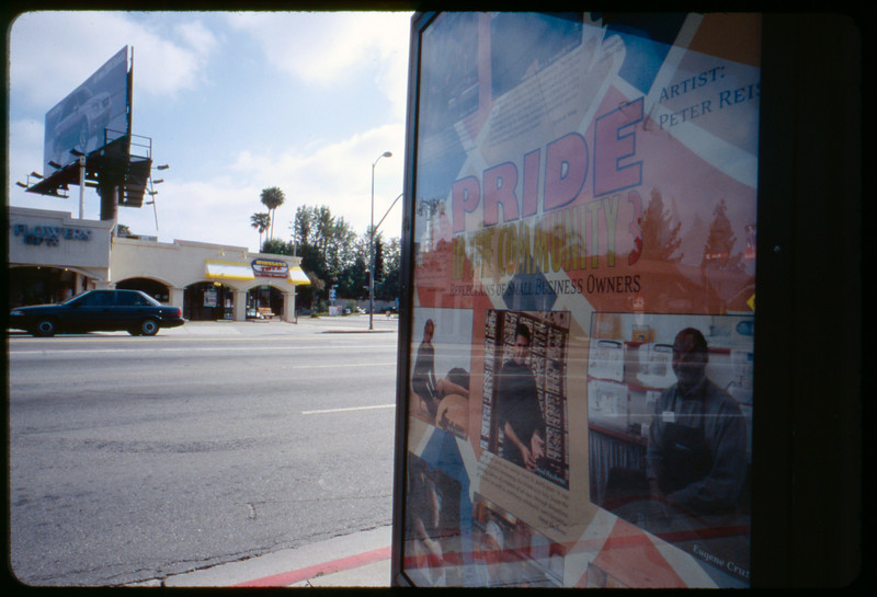 Reiss poster in situ, Los Angeles, 2005