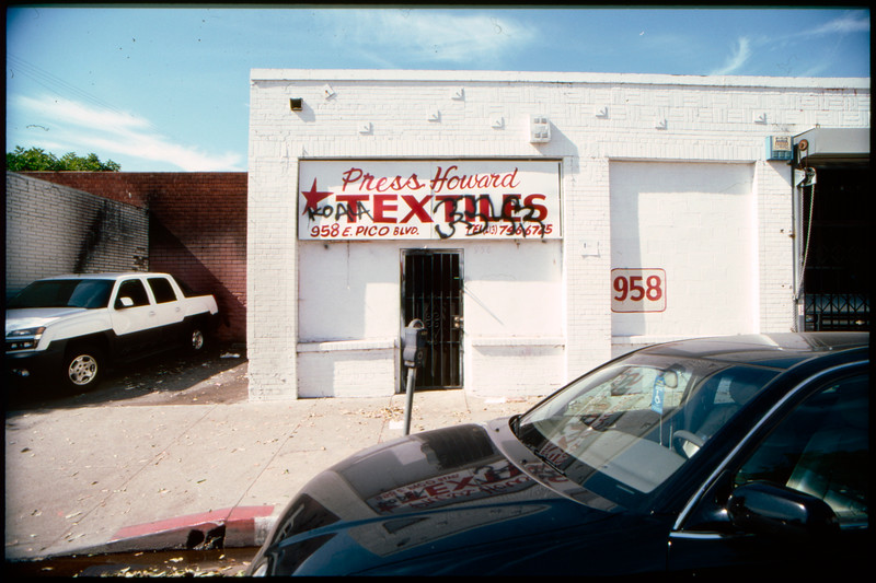 Industrial buildings along East Pico Boulevard from South Central Avenue to Stanford Avenue and back to Paloma Street, Los Angeles, 2003