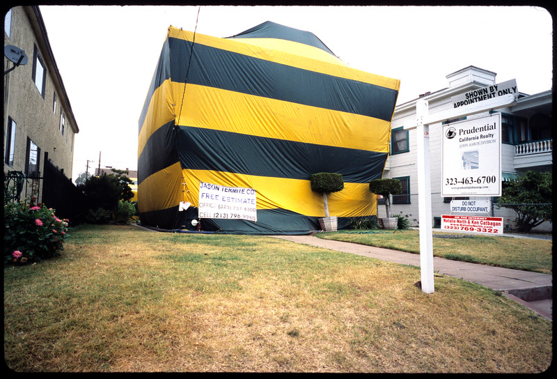 Wrapped house, Los Angeles, 2005