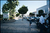 Police officers and guys at La Cienega Boulevard and Wilshire Boulevard, Beverly Hills, 2005