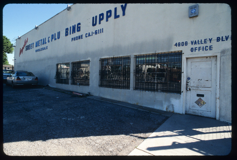 Angelus Sheet Metal and Plumbing Supplies and Budget Mattress, Los Angeles, 2005