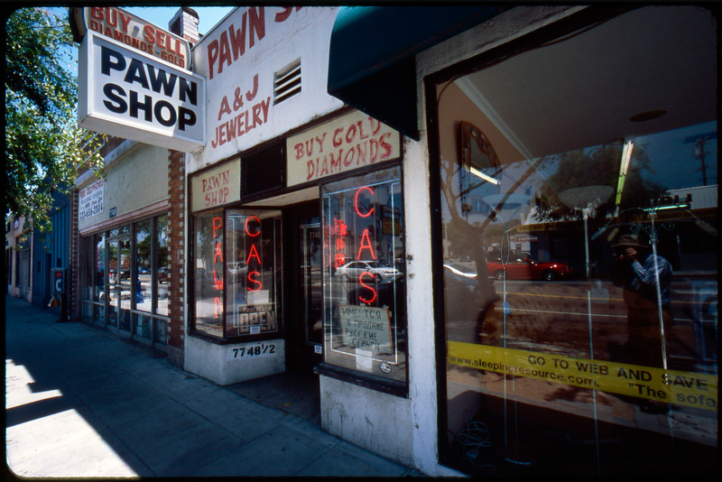 Storefronts around the Pleasure Chest, pawn shops, Russian and gay places, etc., West Hollywood, 2005