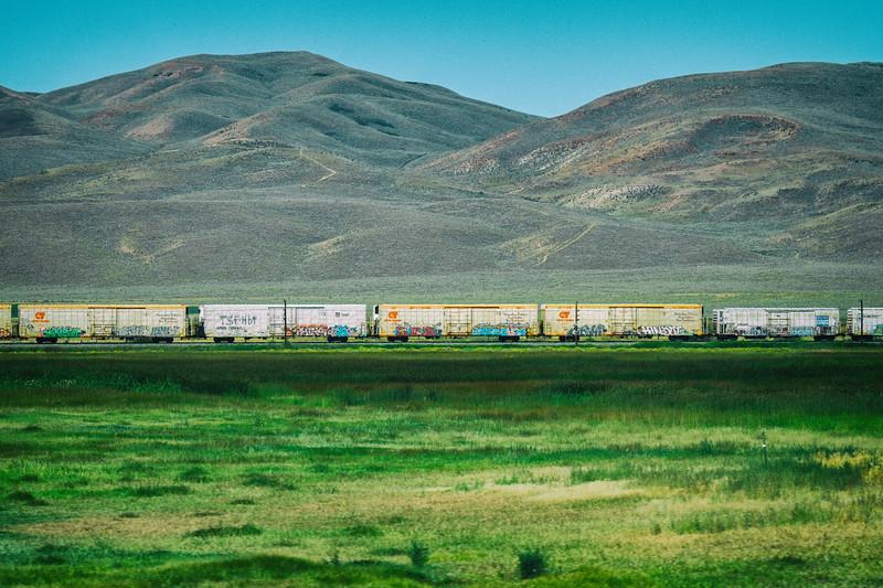 cargo train in wyoming