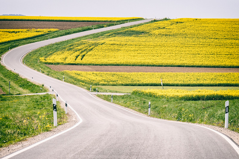 road near herrenberg, germany