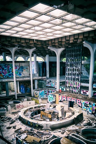 ruined hotel