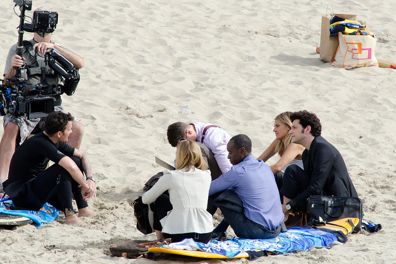 Kristen Bell,Don Cheadle,Ben Schartz seen in Venice