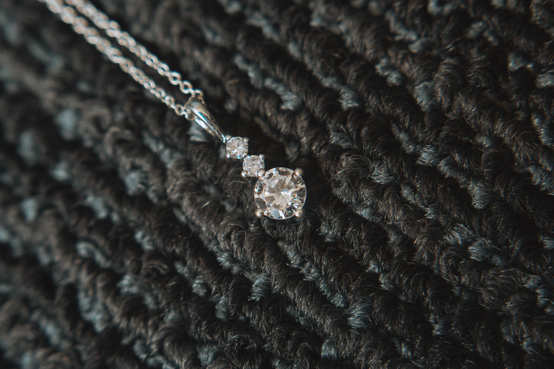 Diamond necklace.