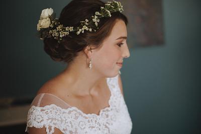 Bride smiling.