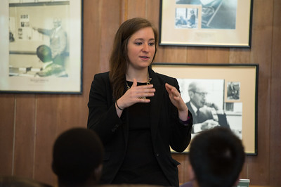 Kristin Scalzo was this year's Albert Family Holocaust Study Fund speaker.