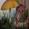 Field Mouse - Watercolor Pencil & Oil Pastels