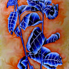 Blue Leaves - Color Pencil