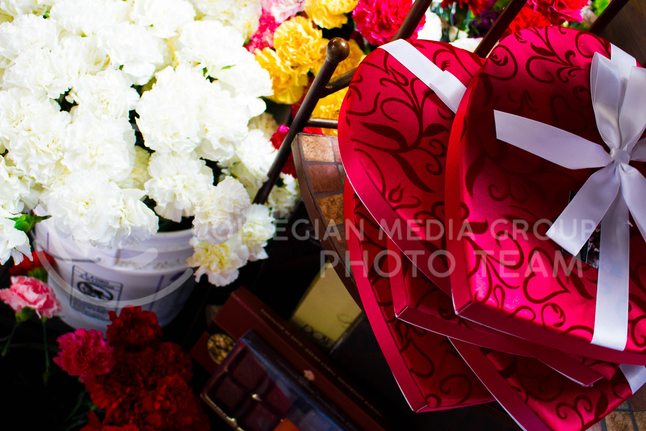 The Valentine's collection at Kristern's Flowers on Feb.13.<br /> (Alanud Alanazi | The Collegian)