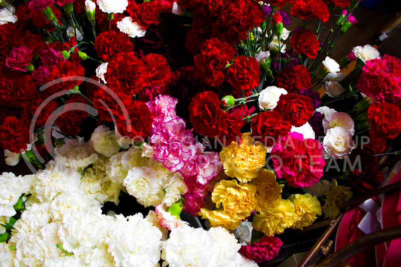 A selection of flowers in honor of Valentine's day at Kristner's Flowers on Feb. 13. <br /> (Alanud Alanazi   The Collegian)