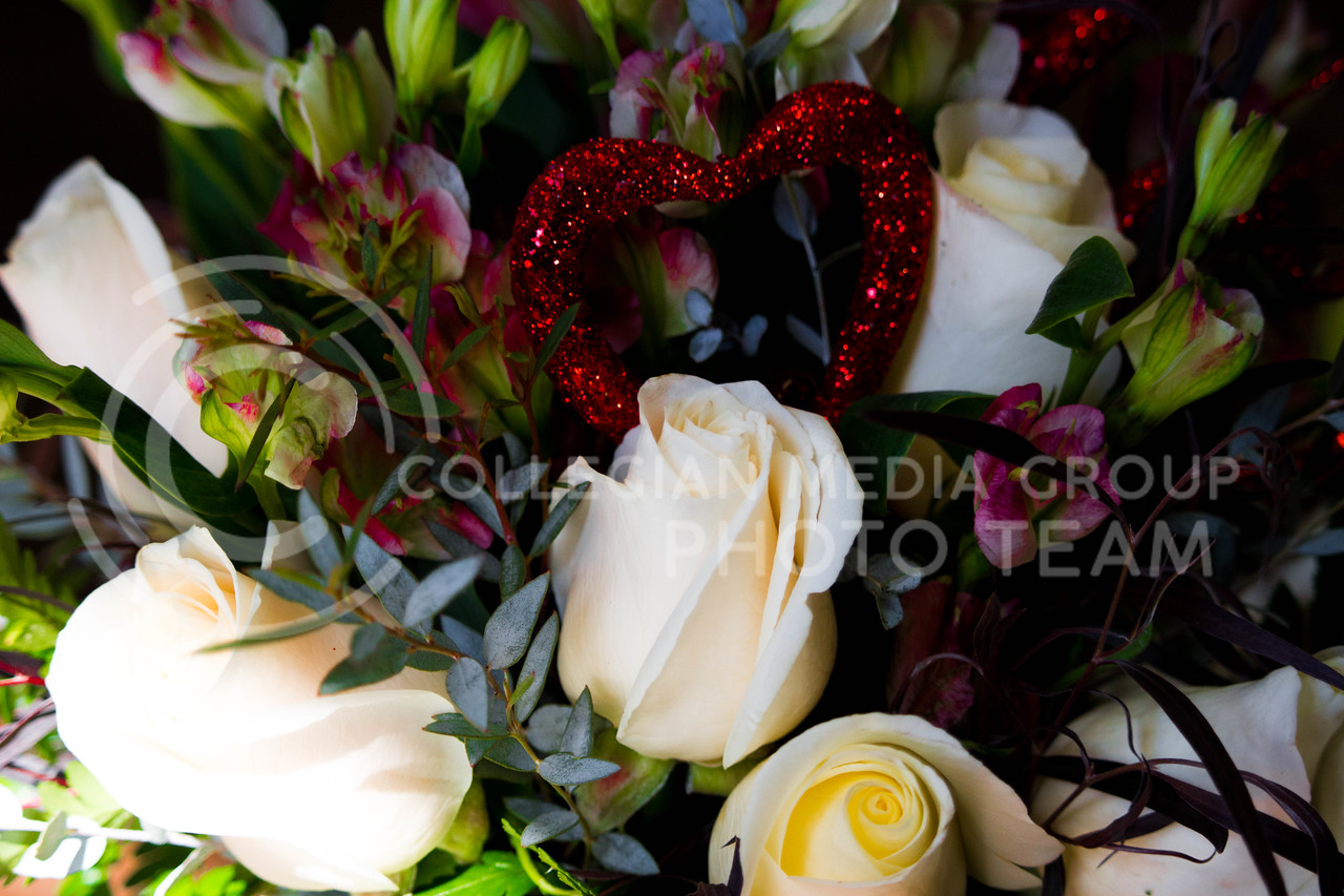 A sample Valentine's bouquet at Kristner's Flowers on Feb.13.<br /> (Alanud Alanazi | The Collegian)