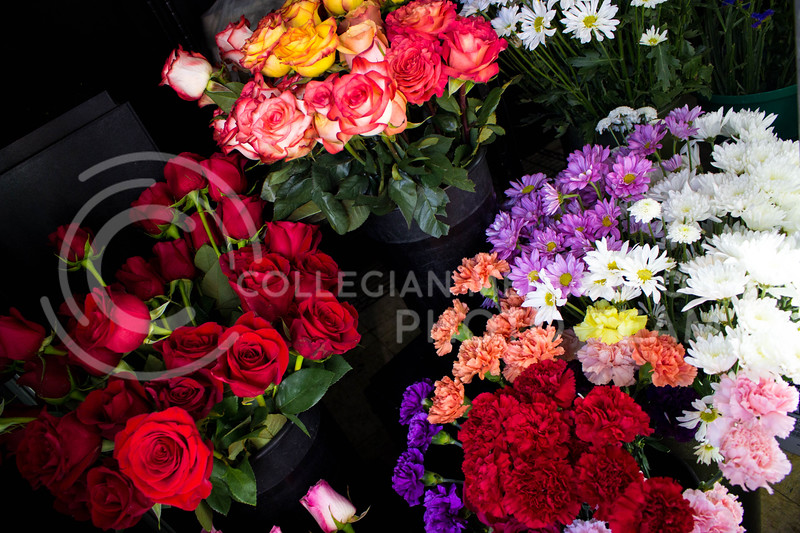 A selection of flowers in honor of Valentine's day at Kristner's Flowers on Feb. 13. <br /> (Alanud Alanazi | The Collegian)