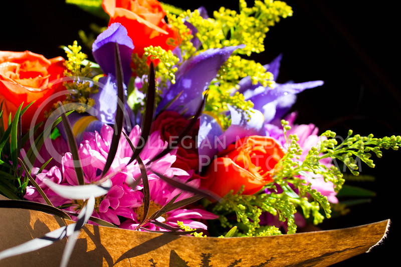 A flower bouquet arranged by Krsitner's Flowers on Feb.13.<br /> (Alanud Alanazi | The Collegian)