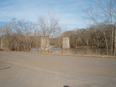 old rte 41 bridge supports