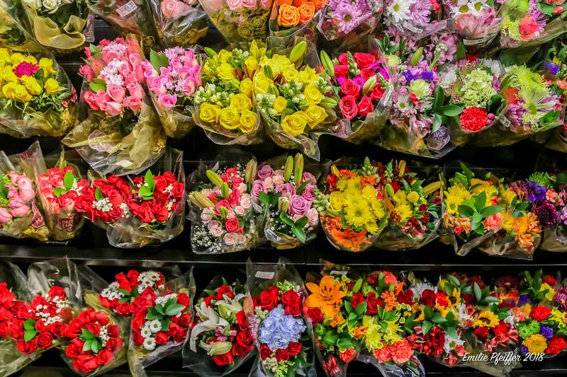 Flower Display at Kroger