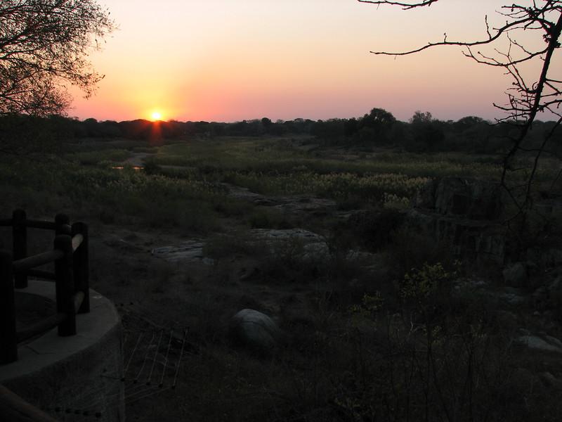 Sunset at Skukuza