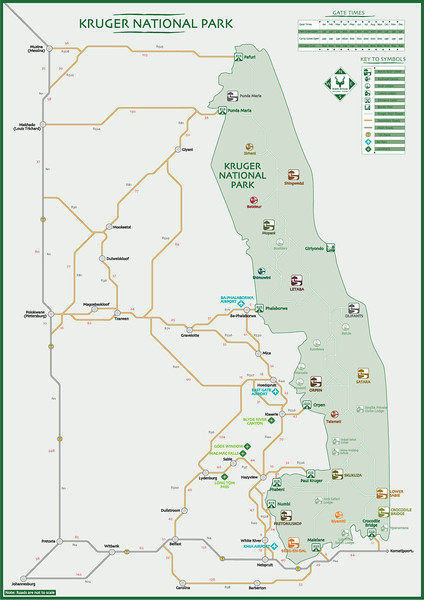 002 Map of Kruger National Park