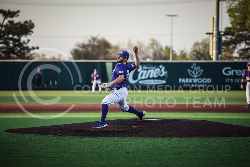 Junior Jaxon Passino throwing a pitch on Wednesday's game (April 14, 2020) against the University of Northern Colorado at Tointon Baseball Stadium. <br /> Elizabeth Proctor Collegian Media Group