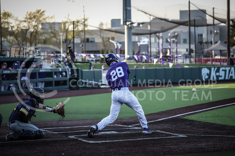 Junior Zach Kokoska up to bat and swinging on Wednesday's game (April 14, 2020) against the University of Northern Colorado at Tointon Baseball Stadium. <br /> Elizabeth Proctor Collegian Media Group
