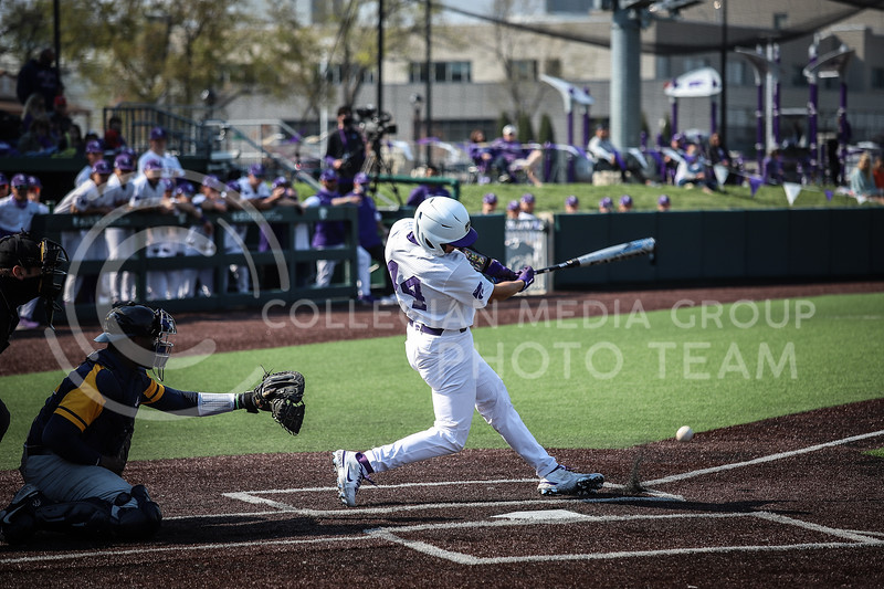 Junior Dylan Caplinger up to bat and swinging on Saturday (April 24, 2021) game against Western Virginia at Toniton Stadium. <br /> Elizabeth Proctor Collegian Media Group