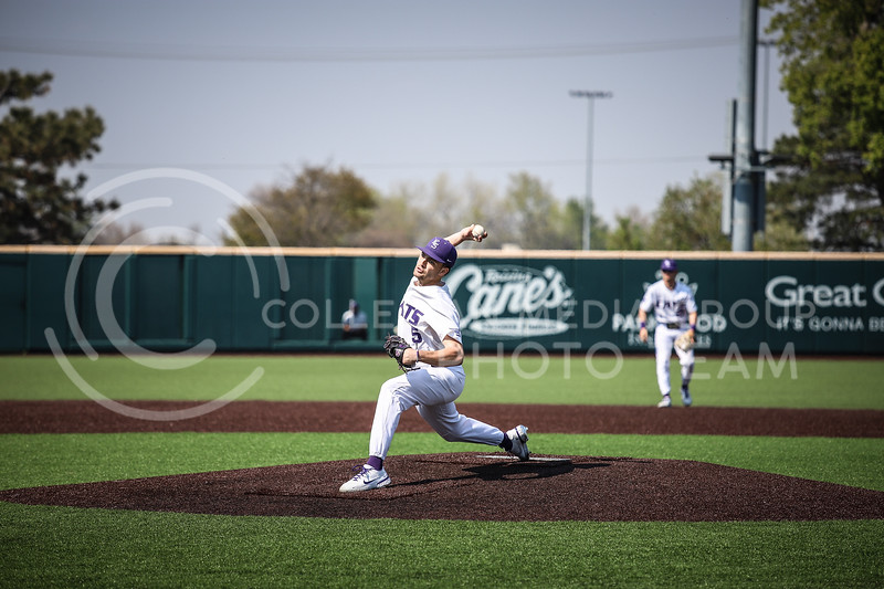 Redshirt Freshman Connor McCullough throwing a pitch on Saturday (April 24, 2021) game against Western Virginia at Toniton Stadium. <br /> Elizabeth Proctor Collegian Media Group