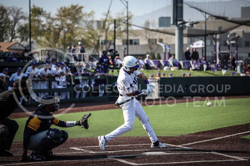Redshirt Junior Kamron Willman up to bat and swinging on Saturday (April 24, 2021) game against Western Virginia at Toniton Stadium. <br /> Elizabeth Proctor Collegian Media Group